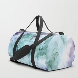 Growth- Abstract Botanical Fluid Art Painting Duffle Bag