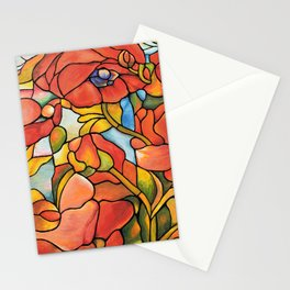 Red Poppy Lamp Stationery Cards