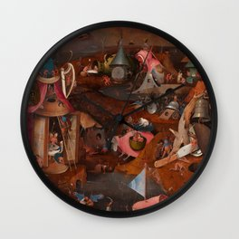 """Hieronymus Bosch """"The Last Judgment"""" triptych (Bruges) cental panel Wall Clock"""