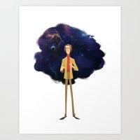 sagan Art Prints featuring Carl Sagan by Alan Carvalho