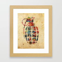 Booming Brands Framed Art Print