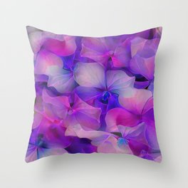 Flower Fantasy - Hydrangea 2 Throw Pillow