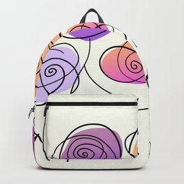 Half A Dozen Roses Backpack