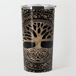 Tree of life -Yggdrasil Runic Pattern Travel Mug