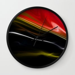 Red Sleek Design Wall Clock