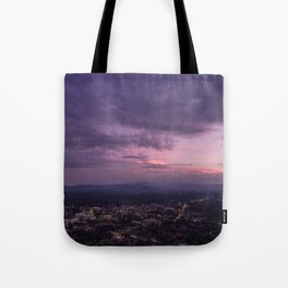 Asheville Stormy Nights Passing By Tote Bag