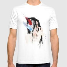 Abstinence White MEDIUM Mens Fitted Tee