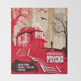 Psycho movie art print Throw Blanket