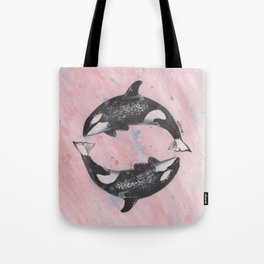Orca Killer Whales Tote Bag