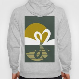 Swans at Sunset Hoody