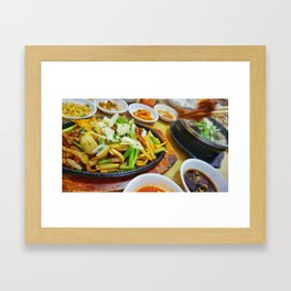 Korean Spicy Chicken Framed Art Print