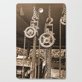 Chains & Tackle Sepia Cutting Board