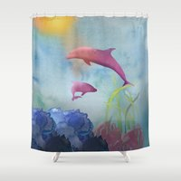 under the sea Shower Curtains featuring Under the Sea by naturessol