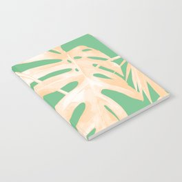 Tropical Monstera and Palm Party Notebook