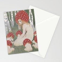 MOTHER MUSHROOM WITH HER CHILDREN - EDWARD OKUN Stationery Cards