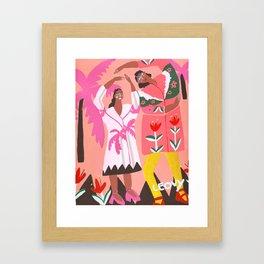 Funky coat days Framed Art Print