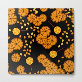 Black and orange pattern . Metal Print