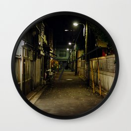 Tokyo Back Alley Wall Clock
