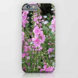 Pink Prairie Mallow iPhone Case