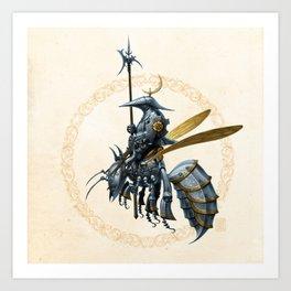 Royal Wasp Guard Art Print