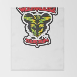 Wolfmouse at the Sherman Oaks Arena Throw Blanket
