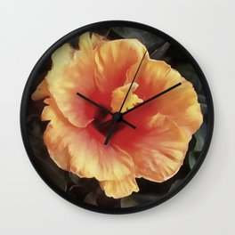 Chinese Rose Flower Wall Clock