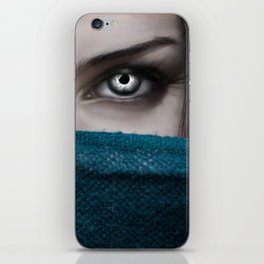 Metal Eyes iPhone Skin