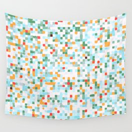 handmade coloured squares Wall Tapestry