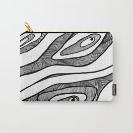 Black Waves Linework Carry-All Pouch
