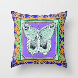 Southwestern Styalized Moth Art Design  Throw Pillow