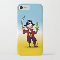pirate iPhone & iPod Cases featuring Pirate by Cardvibes.com - Tekenaartje.nl