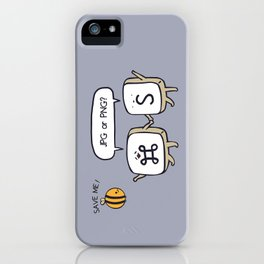Save the bees jpg iPhone Case
