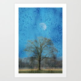 Concept landscape : The lonely tree Art Print