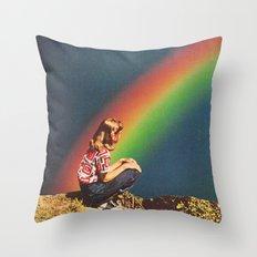 NIGHT RAINBOW Throw Pillow
