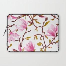 Pink Magnolia Spring Blossom Laptop Sleeve