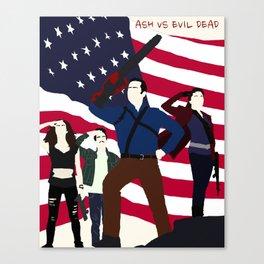 Ash Versus Evil Dead Canvas Print