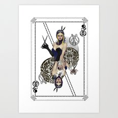 Queen of Scissors Art Print