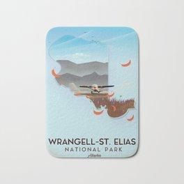 Wrangell-St. Elias National Park Alaska poster Bath Mat