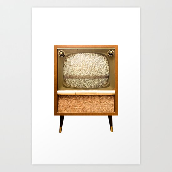 Television Set on White Art Print