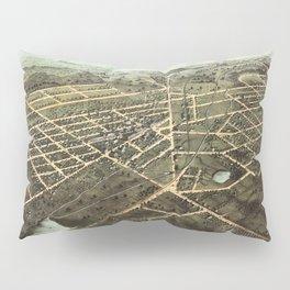 Bird's Eye View of Hillsdale, Michigan (1866) Pillow Sham