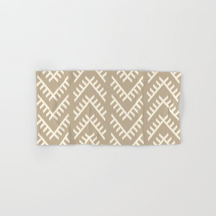 Stitched Arrows in Tan Hand & Bath Towel