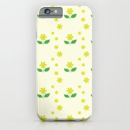 sweet happy yellow flowers seamless pattern iPhone Case