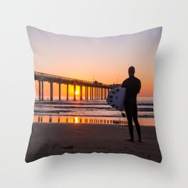 Scouting the Sunset Throw Pillow