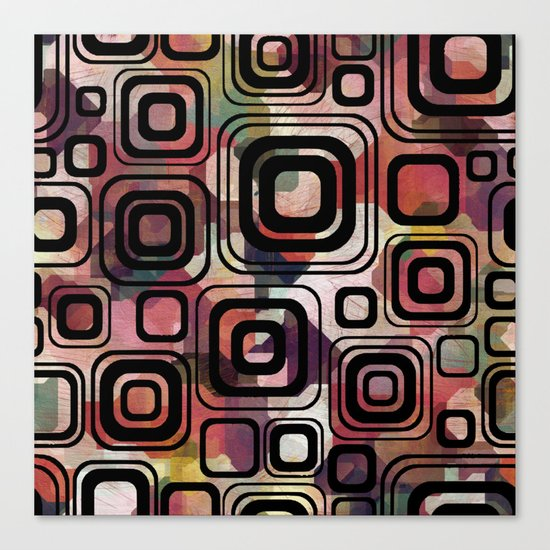 Retro cube Canvas Print