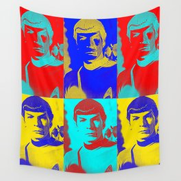 Science Officer Spock (Andy Warhol Remix) Wall Tapestry