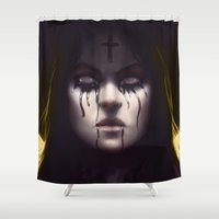 coven Shower Curtains featuring Branded (Color) by rnlaing