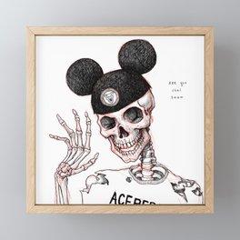 Necromouseketeer Framed Mini Art Print