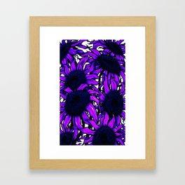 Purple Sunflowers Framed Art Print
