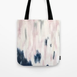 Blush Pink and Blue Pretty Abstract Tote Bag