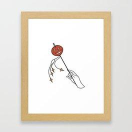 pumpkin wand Framed Art Print